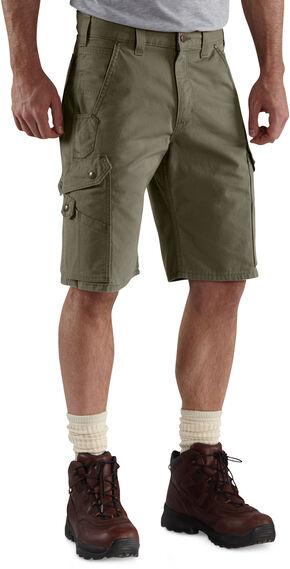Carhartt Ripstop Cargo Work Shorts, Moss, hi-res