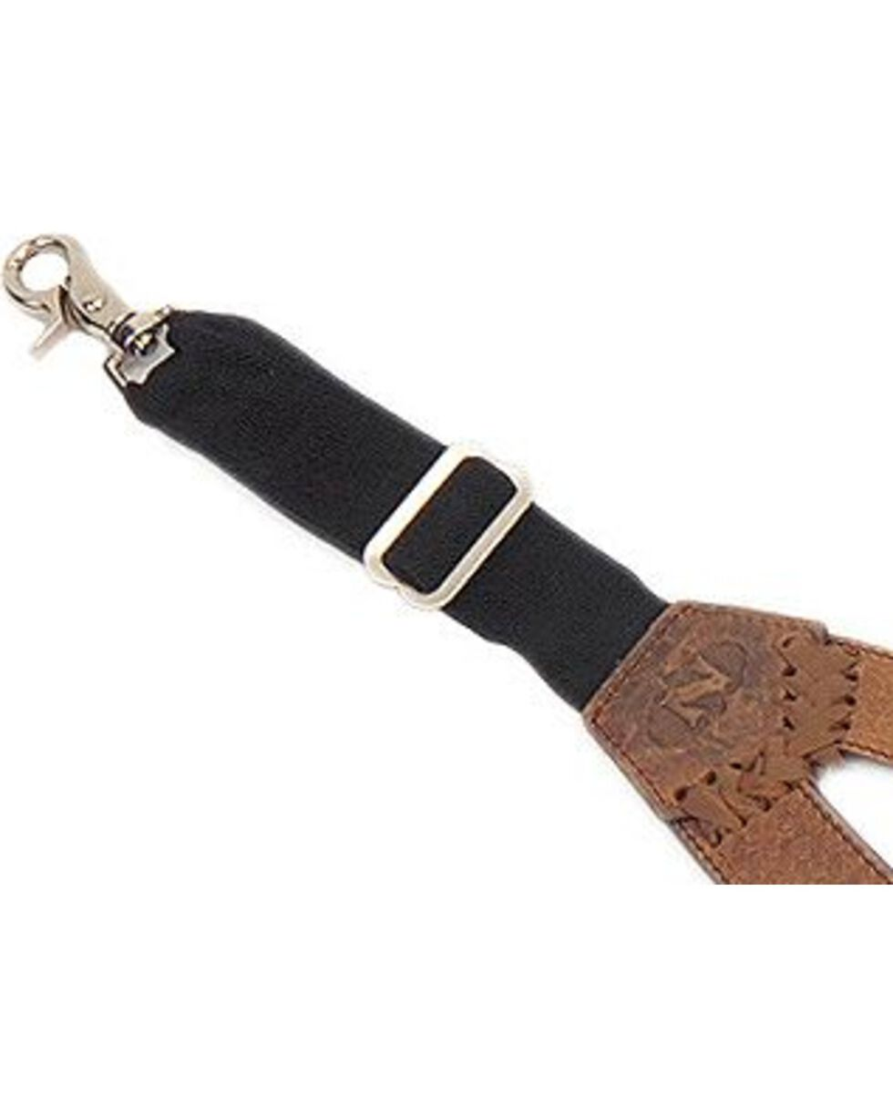 Nocona Buffalo Nickel Leather Suspenders, Briar, hi-res