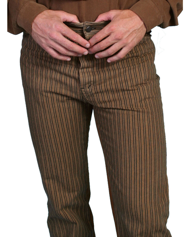 Wahmaker by Scully Railhead Stripe Pants, Taupe, hi-res