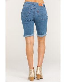Levi's Women's Light Wash Bermuda Shorts, Blue, hi-res