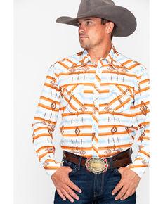 8316b837b86 Rock   Roll Cowboy Aztec Print Long Sleeve Western Shirt