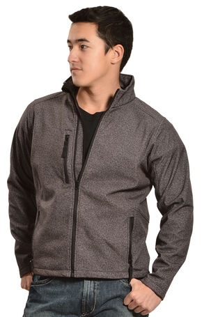 Red Ranch Men's Performance Black Skull Jacket, Charcoal Grey, hi-res