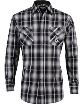 Jack Daniel's Men's Old No. 7 Long Sleeve Snap Shirt, Black, hi-res