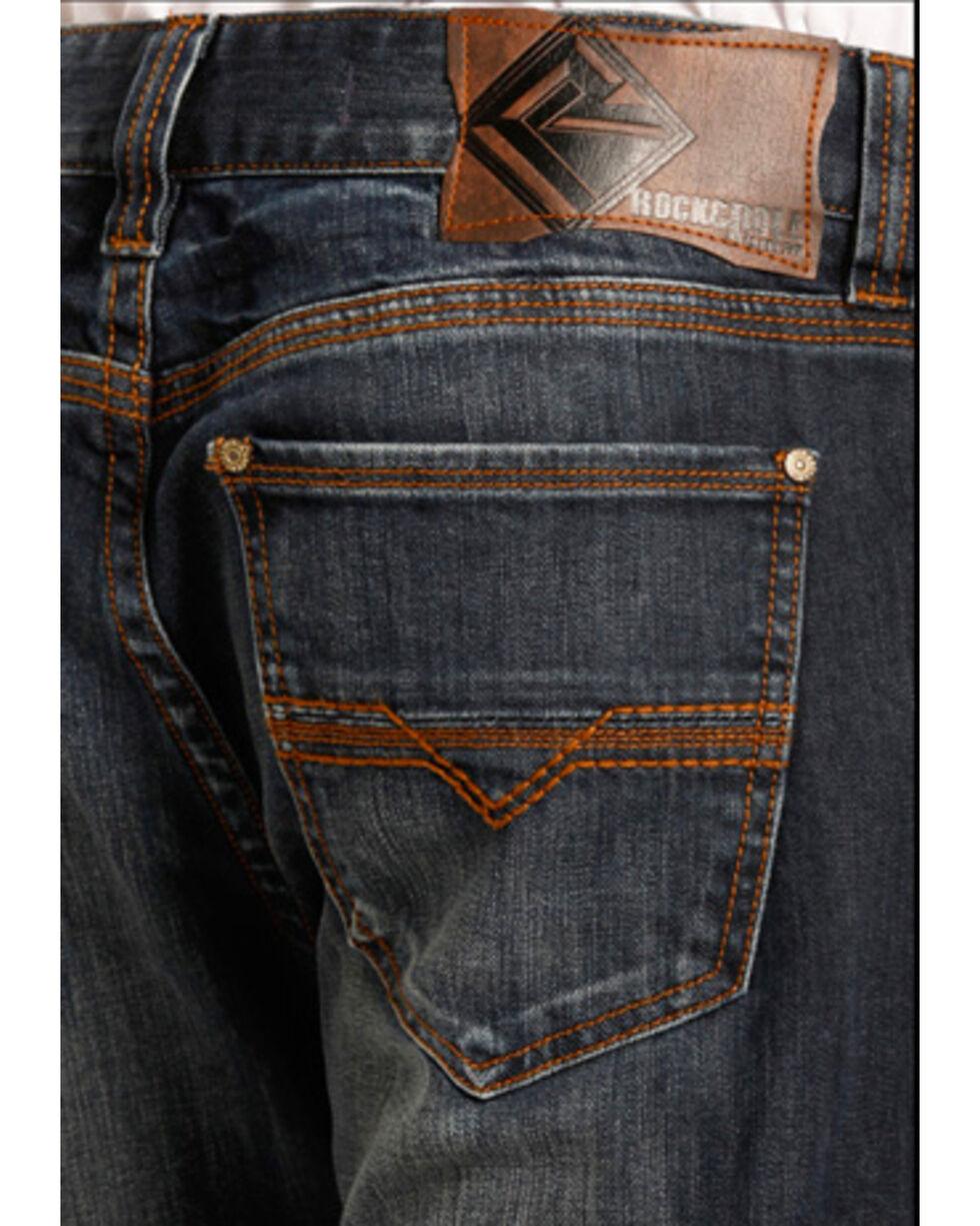 Rock & Roll Cowboy Men's Double Barrel Reflex Copper Stitch Jeans -  Straight Leg , Blue, hi-res