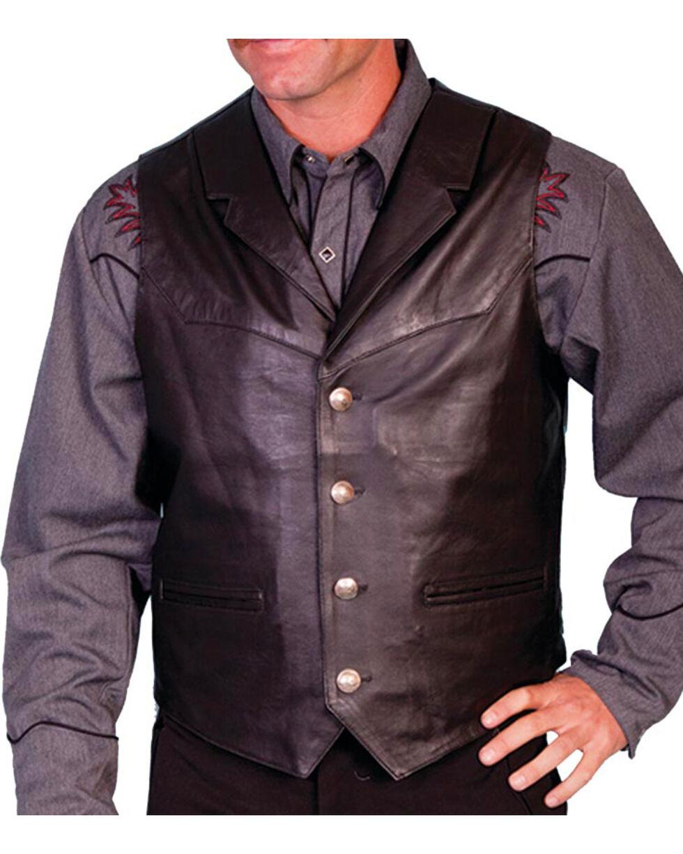 Scully Men's Lambskin Lapel Vest - Big, Black, hi-res
