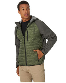 Wrangler ATG Men's All-Terrain Green Outrider Zip-Front Hooded Jacket , Green, hi-res