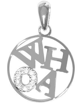 Kelly Herd Women's Silver Whoa Pendant Necklace , Silver, hi-res