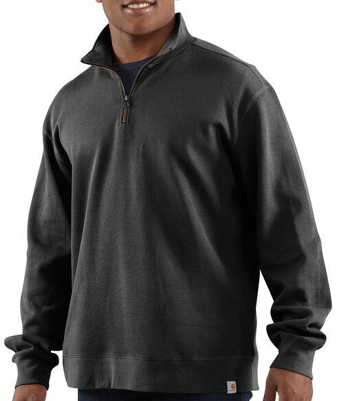 Carhartt Sweater Knit Quarter Zip Sweatshirt, Black, hi-res