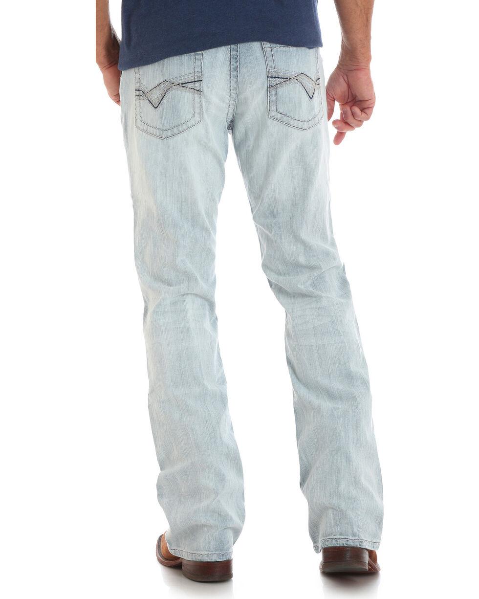 Wrangler Rock 47 Men's Turntable Slim Fit Boot Cut Jeans, Light Blue, hi-res