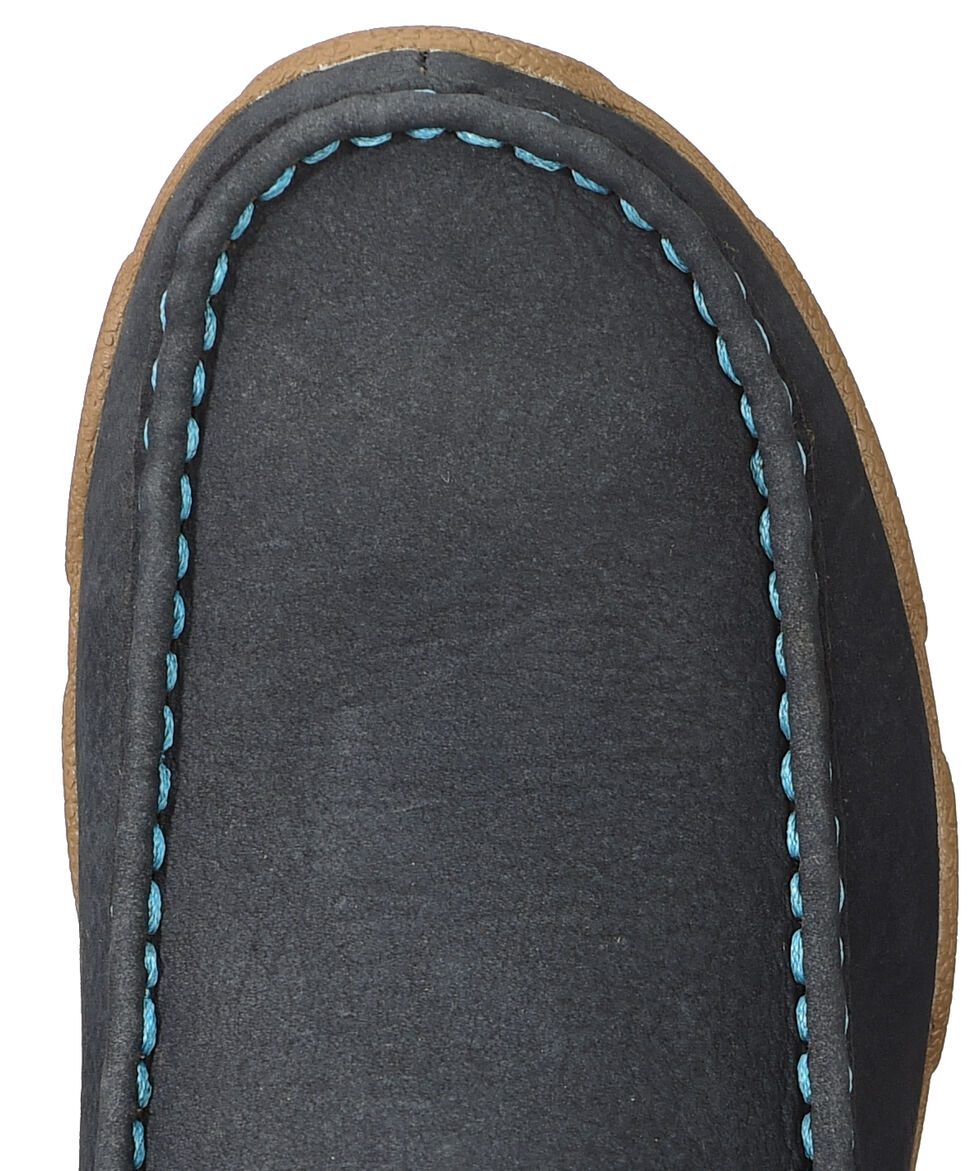 Twisted X Women's Softy Blue Lace-Up Driving Mocs, Blue, hi-res