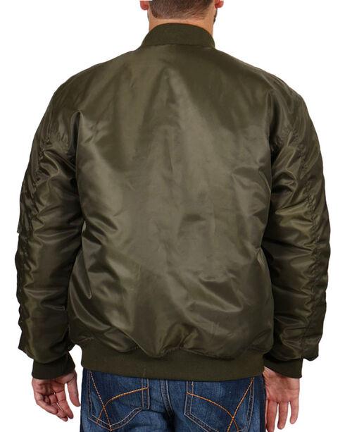 American Worker Men's Nylon Bomber Jacket , Olive, hi-res