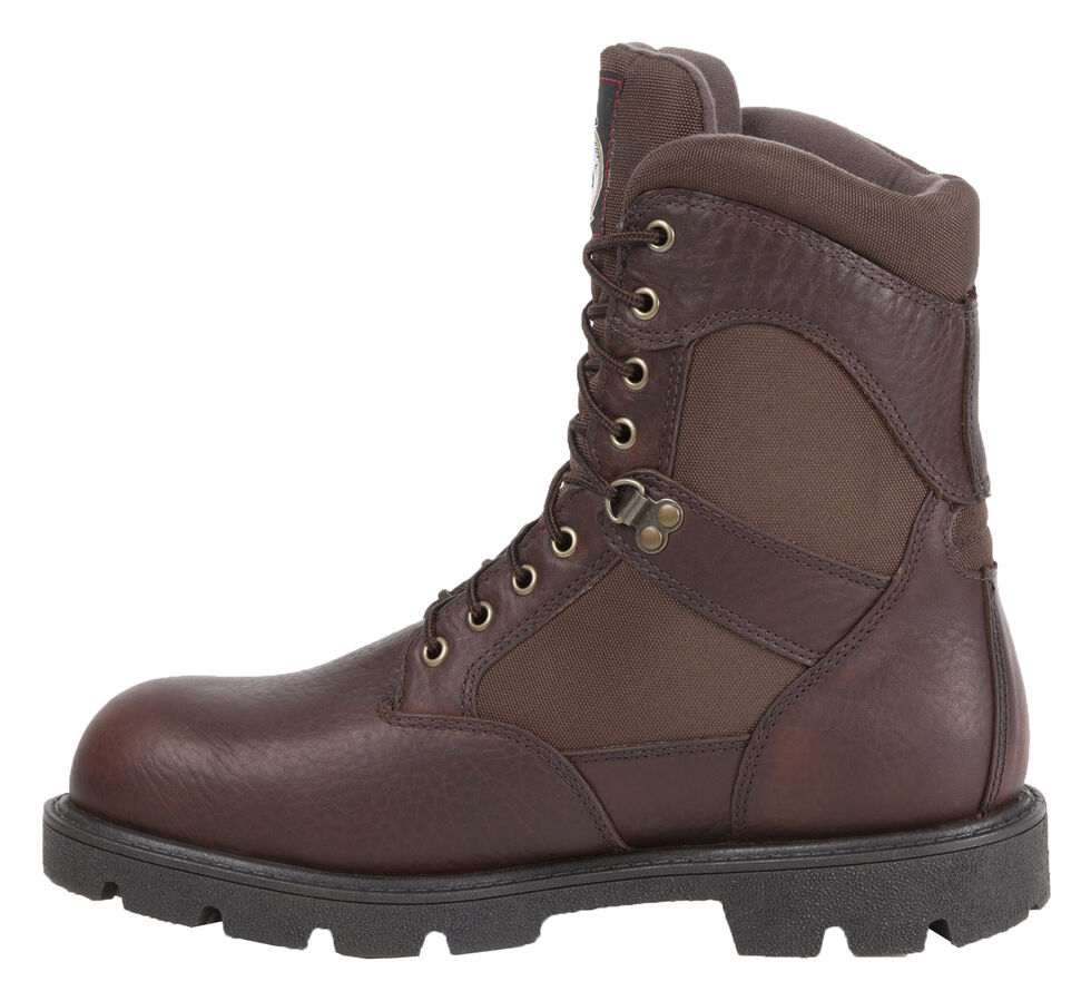 Georgia Boot Homeland Waterproof Work Boots - Steel Toe, Brown, hi-res