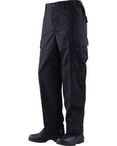 Tru-Spec Classic Battle Dress Uniform Cotton RipStop Pants - Big and Tall, Black, hi-res