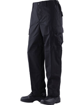 Tru-Spec Classic Battle Dress Uniform Cotton RipStop Pants - Big and Tall, Black, hi-res