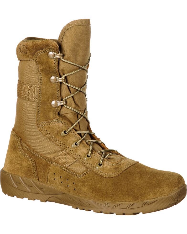 Rocky Men's C7 CXT Lightweight Commercial Military Boot - Round Toe, Brown, hi-res