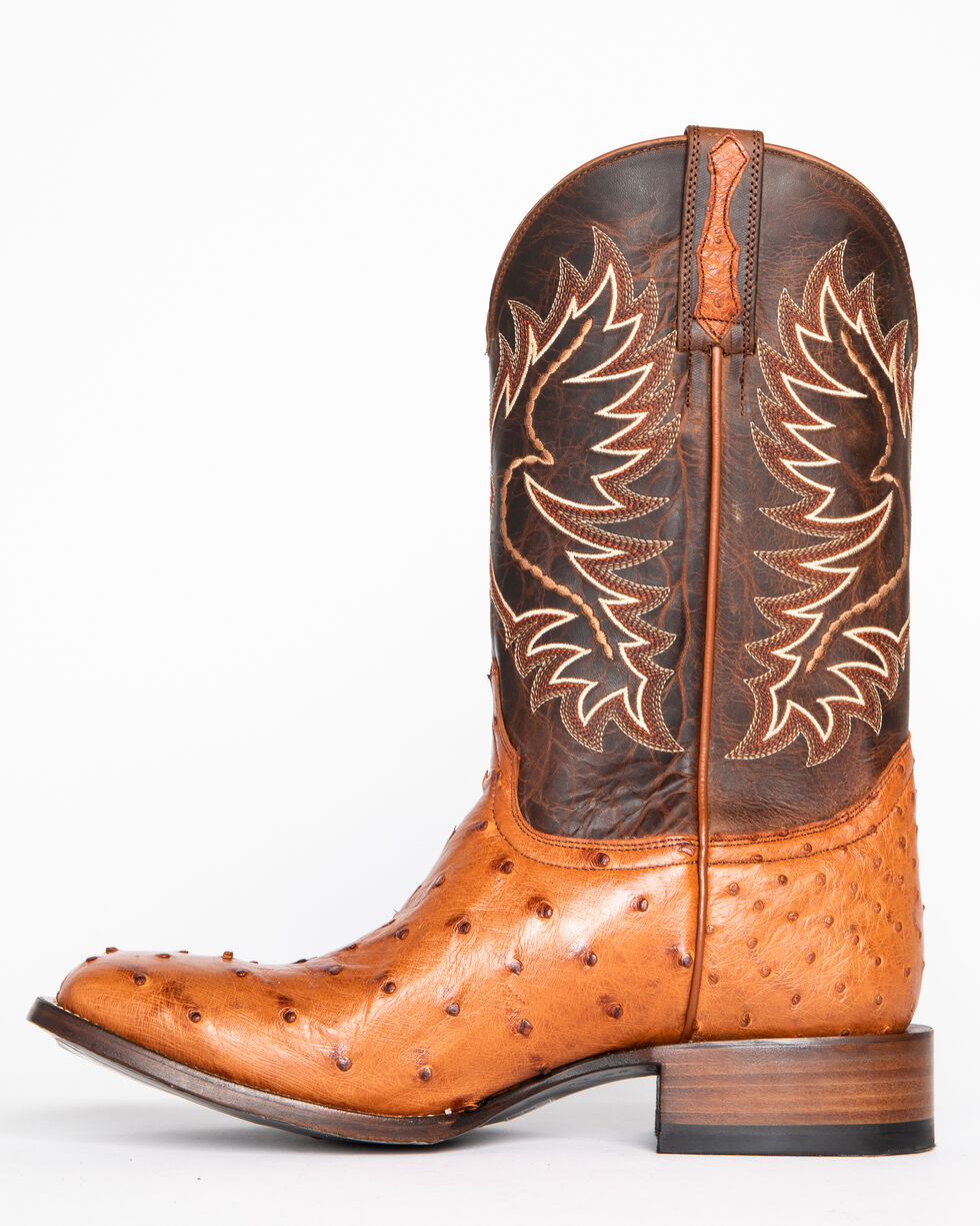 Cody James Men's Full Quill Ostrich Exotic Boots - Square Toe , Brown, hi-res