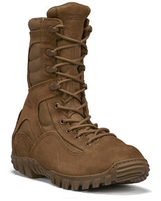 Belleville Men's Sabre Hot Weather Assault Boots - Steel Toe, Coyote, hi-res