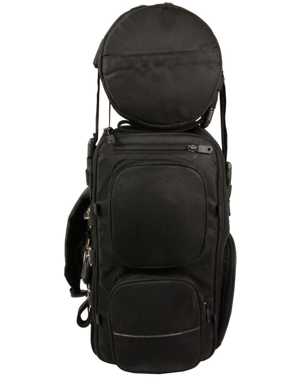 Milwaukee Leather Large Two Piece Nylon Sissy Bar Bag, Black, hi-res