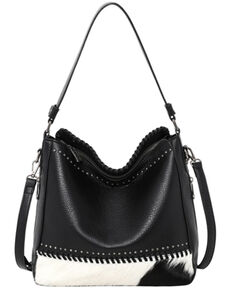 Montana West Women's Crossbody Conceal Hobo Handbag, Black, hi-res