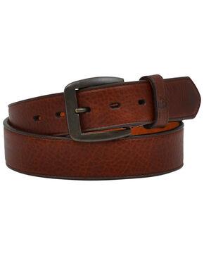 Georgia Men's Dark Brown Pebble Leather Work Belt, Dark Brown, hi-res