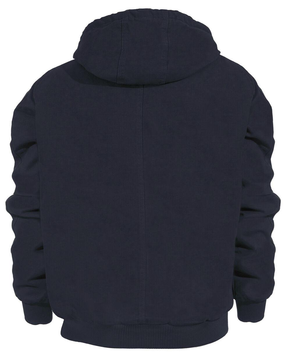 Berne Original Washed Hooded Jacket - Quilt Lined, Midnight, hi-res