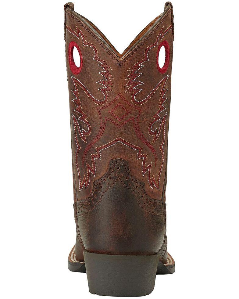 Ariat Boys' Rough Stock Cowboy Boots - Square Toe, Brown, hi-res