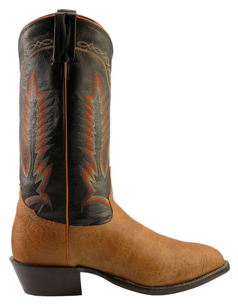 Tony Lama Pecan Taurus Shoulder Cowboy Boots - Medium Toe, Pecan, hi-res