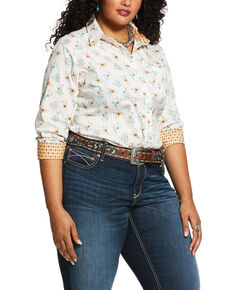 Ariat Women's Cactus Blossom Kirby Stretch Long Sleeve Western Shirt - Plus, Multi, hi-res