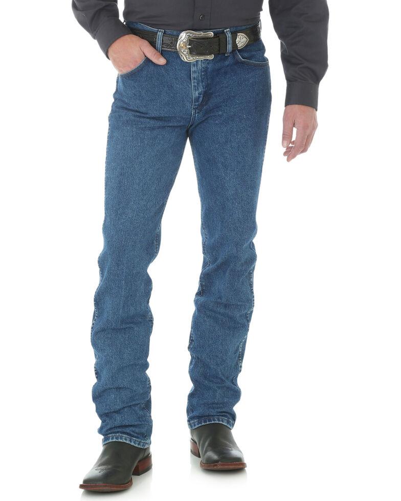 "Wrangler Jeans - Cowboy Cut 36 MWZ Slim Fit Black - 38"" Tall Inseams, Dark Stone, hi-res"