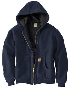 Carhartt Flannel Lined Sandstone Active Jacket - Big and Tall, Midnight, hi-res