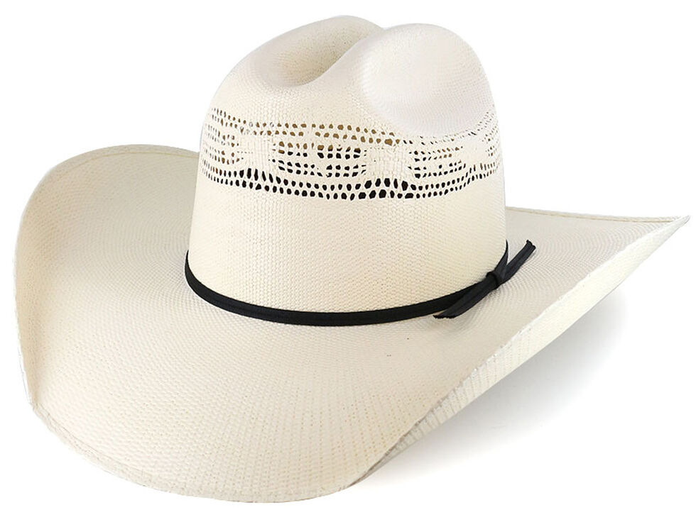 Cody James Cattleman's Crease Straw Western Hat, Natural, hi-res