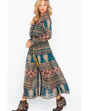 Aratta Women's Me And You Maxi Dress , Dark Blue, hi-res