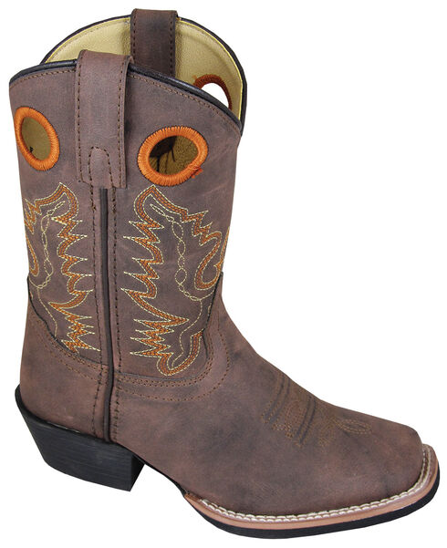 Smoky Mountain Boys' Memphis Western Boots - Square Toe, Brown, hi-res