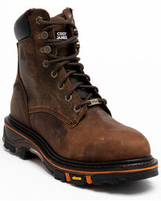 "Cody James Men's 8"" Decimator Work Boots - Nano Composite Toe, Brown, hi-res"