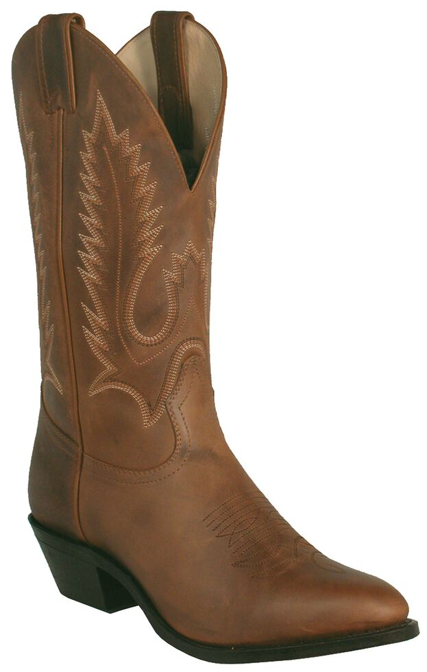 Boulet Men's Rider Western Boots - Pointed Toe, Golden Tan, hi-res