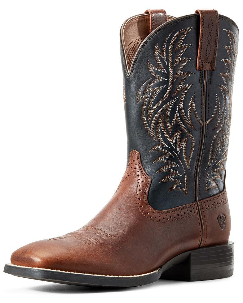 Ariat Men's Cognac Candy Western Boots - Square Toe, Black/brown, hi-res