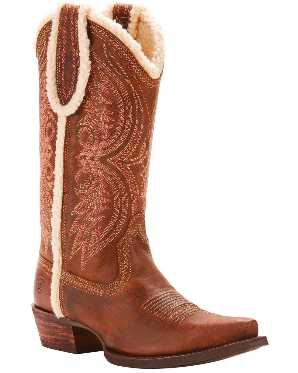 Ariat Women's Cognac Alabama Fleece Boots - Snip Toe , Cognac, hi-res