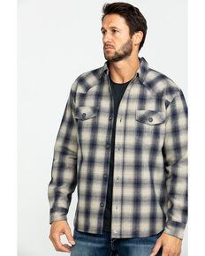 Cody James Men's Gig Harbor Plaid Long Sleeve Western Flannel Shirt , Tan, hi-res