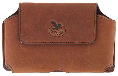 Georgia Leather Smart Phone Case, Brown, hi-res