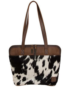 STS Ranchware Women's Cowhide Laptop Bag, Black, hi-res