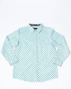 9ddf3fc9a Cody James Boys Astro Geo Print Long Sleeve Western Shirt , White, hi-res
