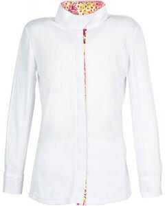Dublin Girls' Comfort Dry Long Sleeve Show Shirt, Multi, hi-res