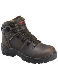 Avenger Men's Brown Foundation Work Boots - Composite Toe, Brown, hi-res