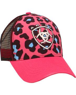 Ariat Women's Pink Leopard Print Mesh Ballcap, Pink, hi-res