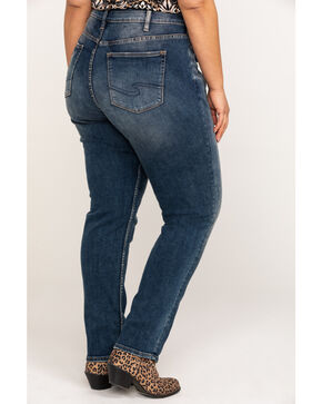 Silver Women's Avery Curvy Slim High Rise Jeans - Plus, Indigo, hi-res