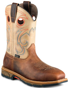 Red Wing Irish Setter Marshall Western Work Boots - Soft Square Toe , Brown, hi-res