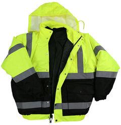 American Worker Men's 3-in-1 Bomber Jacket, Yellow, hi-res