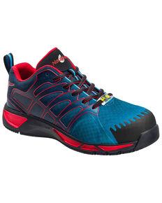 Nautilus Men's Slip Resistant Athletic Work Shoes - Composite Toe, Purple, hi-res