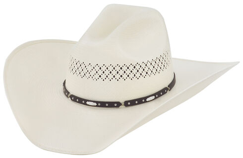 Larry Mahan 10X Horizon Straw Cowboy Hat, Ivory, hi-res