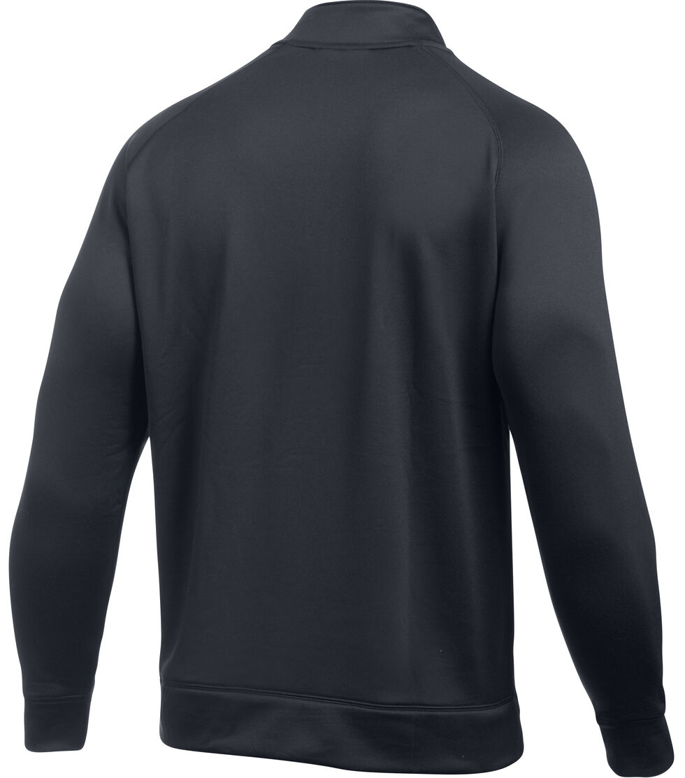 Under Armour Men's Shoreline 1/4 Zip Pullover, Black, hi-res